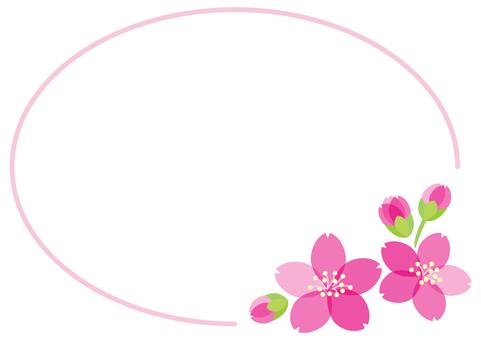 벚꽃 프레임 소재