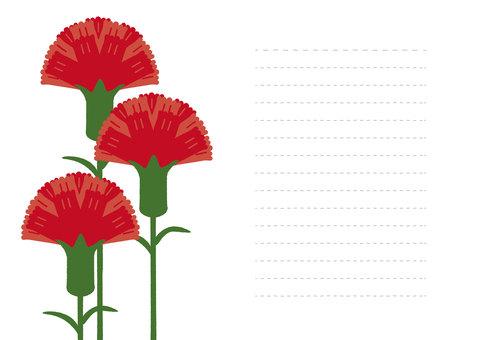 Flower 05_09 (Carnation Letter)