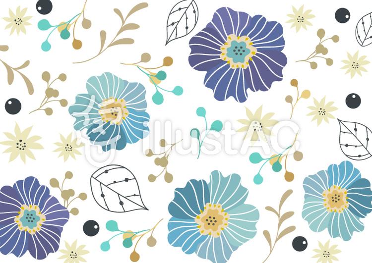 大人な花飾りのおしゃれなカード フレームイラスト No 1179120無料