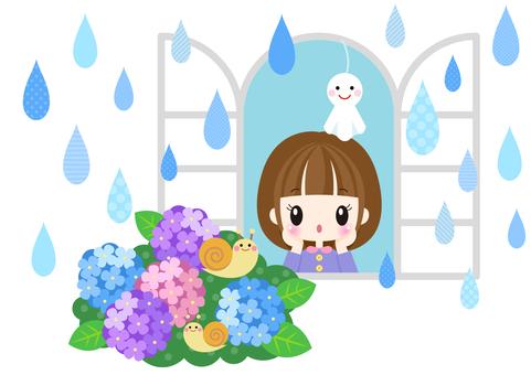 Rainy season image material 86