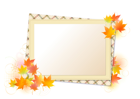 Maple frame in autumn 14