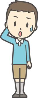 男の子ブルー長袖-018-全身