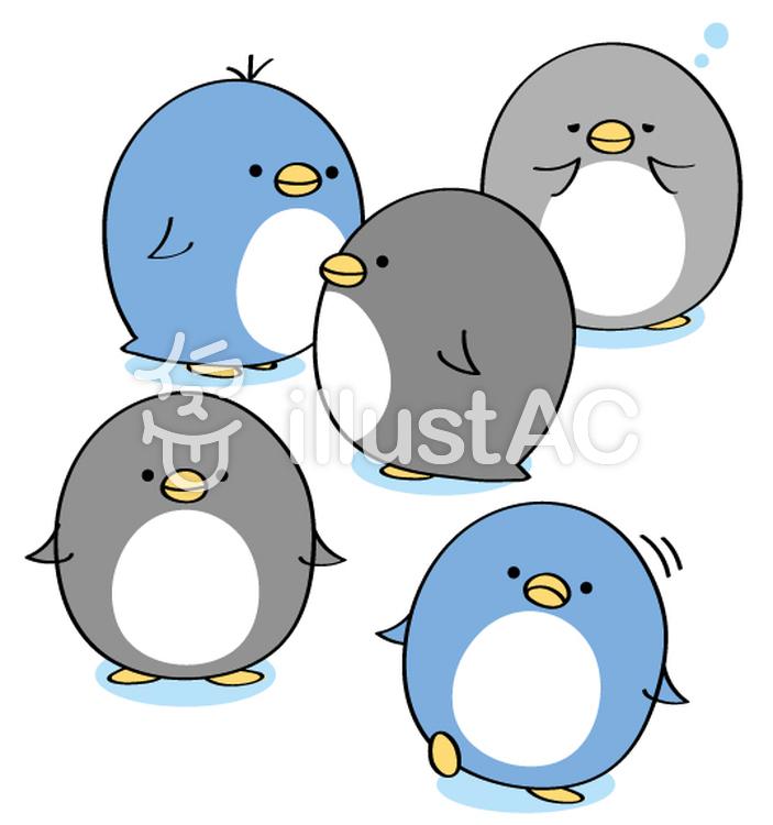 ペンギンの群れイラスト , No 1085180/無料イラストなら