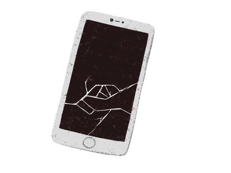 Screen cracking smartphone