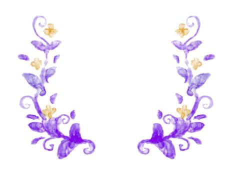Plant frame 1 purple