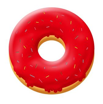 甜甜圈紅色
