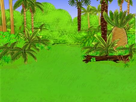 Background of the dinosaur era 2 Grassland near the forest