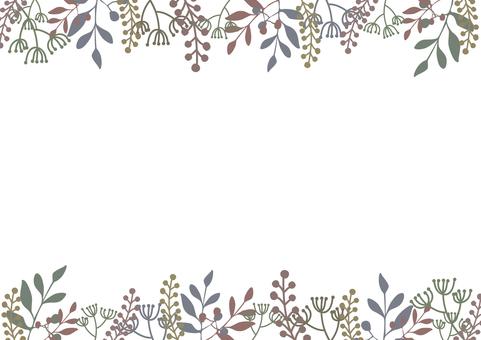 植物のフレーム-2