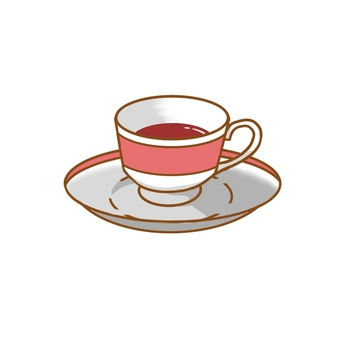 Red tea cup