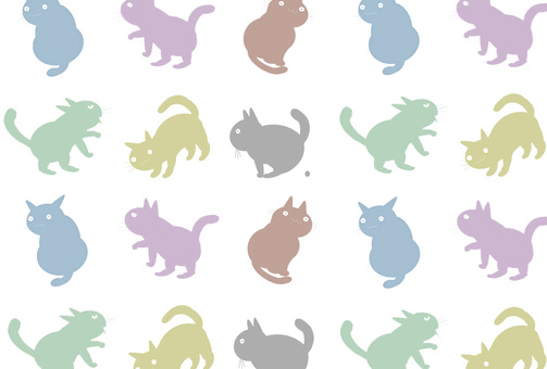 Cat pattern (white)