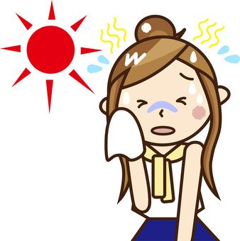 A woman with heatstroke _ A 04