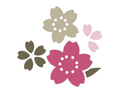 Japanese Pattern Sakura One Point