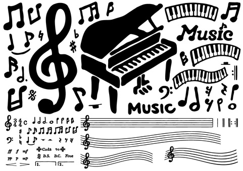 Musical note set 1