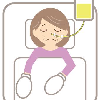 抑制有鼻管(老年婦女)