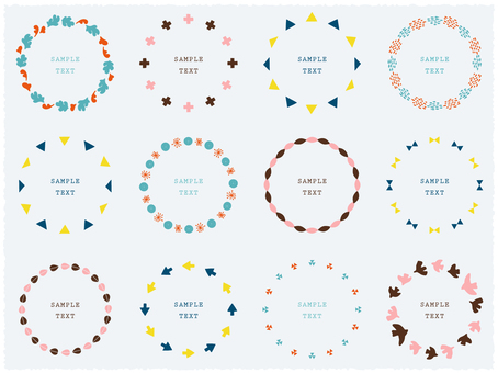 Ring material collection of Scandinavian-style abstract parts