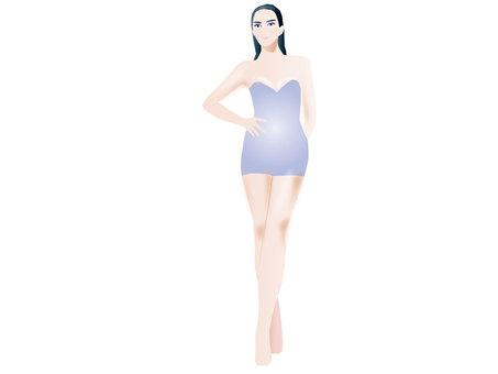 Dress up model