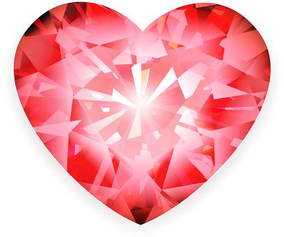 ai Heart cut ruby