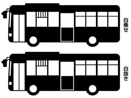 Route bus silhouette (black)