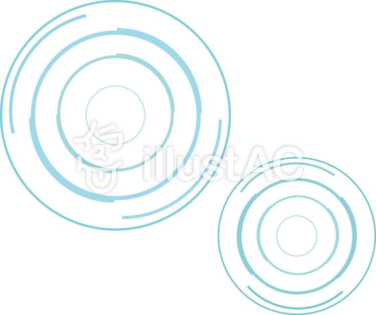 水面波紋アイコンイラストシンプル水たまりイラスト No 358090無料