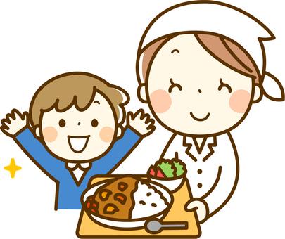 Cooksman and child