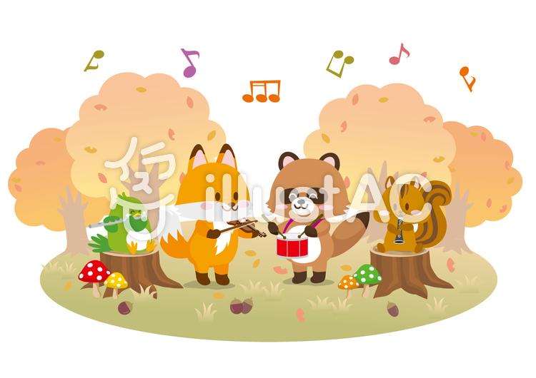 秋の動物音楽会イラスト No 1226595無料イラストならイラストac