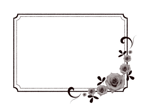 Brand-new style rose frame No background