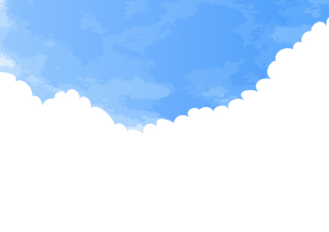 Clouds and sky frame