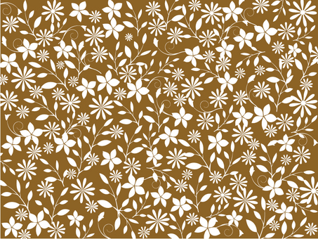 Flower pattern - Sepia