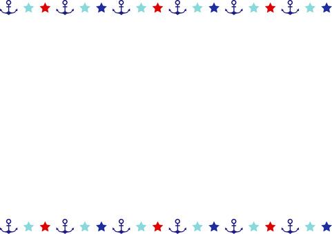 Marine decorative frame
