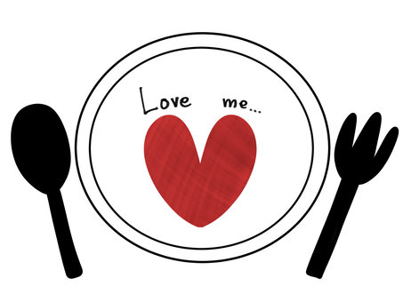 Plate and heart
