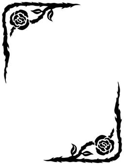 薔薇Frame 04(黑色)
