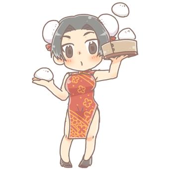 치파오 여자