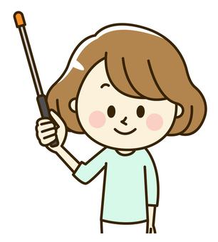 Female 2-10-2 pointing rod