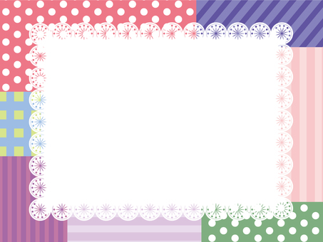 Patchwork style card