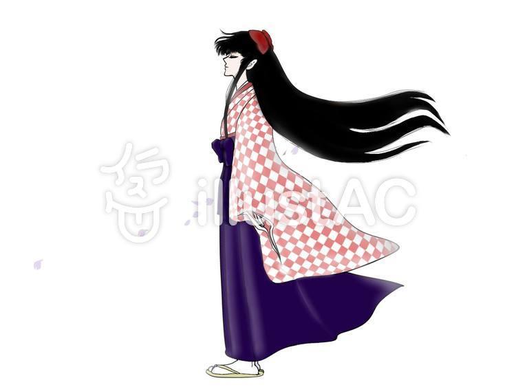 着物袴の女性イラスト No 1080379無料イラストならイラストac