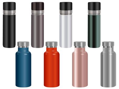Stainless steel water bottle set