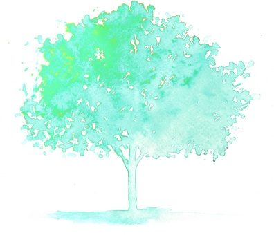 Sea green tree
