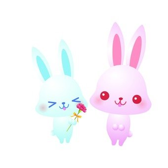 Carnations and rabbits