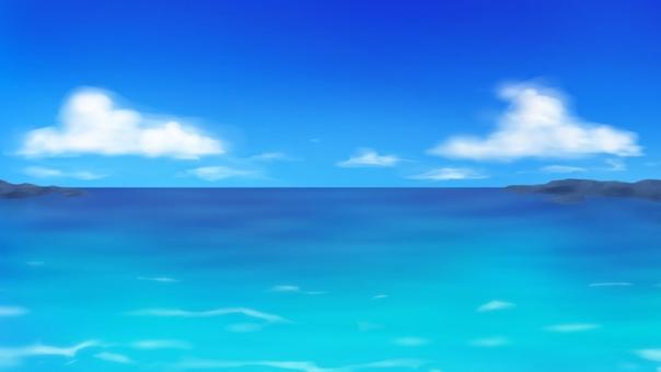 낮의 바다