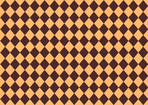 Diamond pattern background Brown × orange