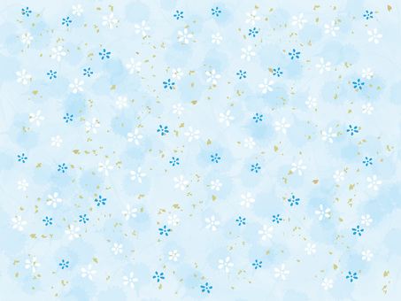 Small floral Japanese paper _ light blue