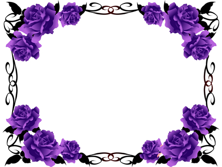Roses frame of gothic lolly color