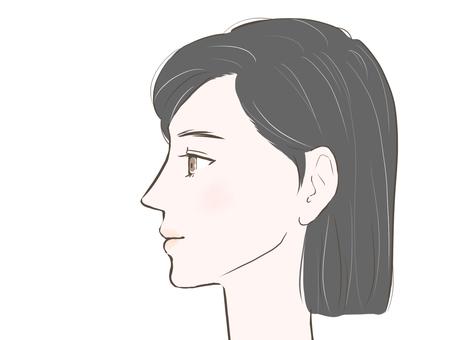 Female sparse gray hair