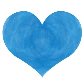 Handwriting water color light blue color heart symbol symbol decoration
