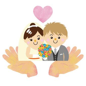 30_05 for men and women (wedding, heart, both hands)