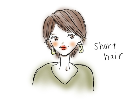 Short hair girl