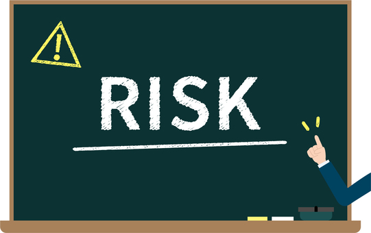 Blackboard image of risk