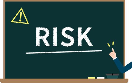 Risk blackboard image
