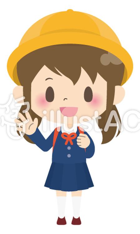 小学生女の子小学校入学01イラスト No 927577無料イラスト