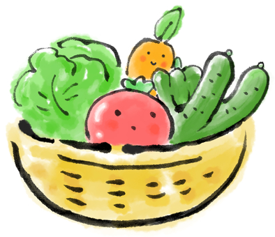 かごの野菜2